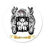 Fleurette Round Car Magnet