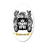 Fleurette 20x12 Oval Wall Decal