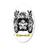 Fleurette 35x21 Oval Wall Decal