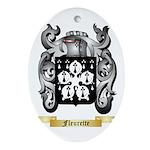 Fleurette Ornament (Oval)
