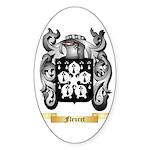Fleuret Sticker (Oval 50 pk)