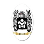 Fleurelle 35x21 Oval Wall Decal