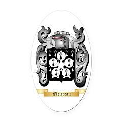 Fleureau Oval Car Magnet