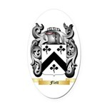 Flett Oval Car Magnet