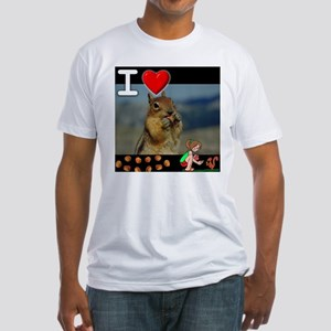 I Love Feeding Squirrels Fitted T-Shirt