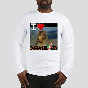 I Love Feeding Squirrels Long Sleeve T-Shirt