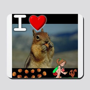 I Love Feeding Squirrels Mousepad