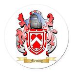 Fleming 2 Round Car Magnet