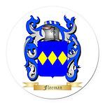Fleeman Round Car Magnet