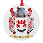 Flavin Round Ornament