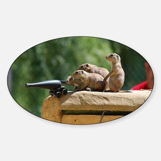 Prairie Dog Soldiers Sticker (Oval)
