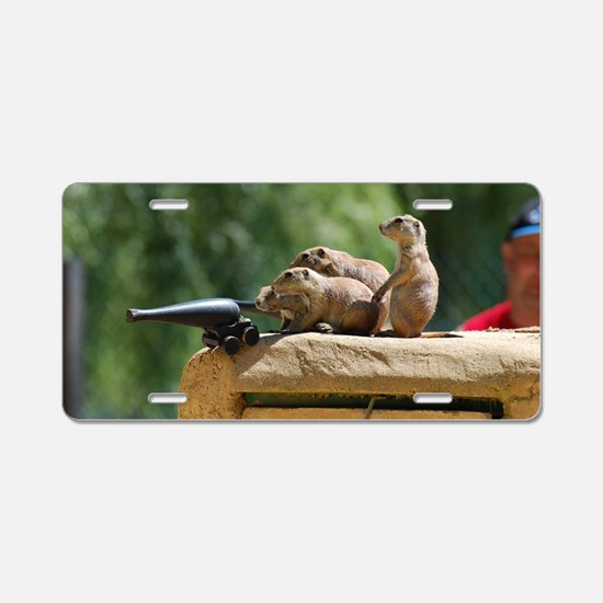 Prairie Dog Soldiers Aluminum License Plate