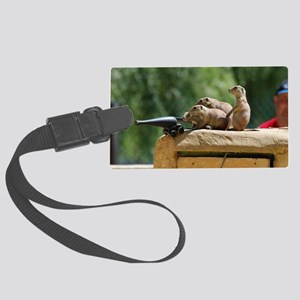 Prairie Dog Soldiers Large Luggage Tag