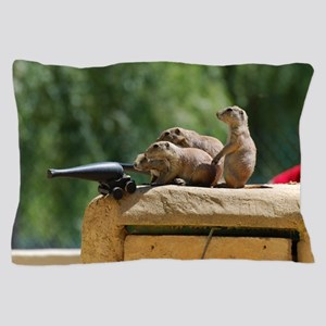 Prairie Dog Soldiers Pillow Case