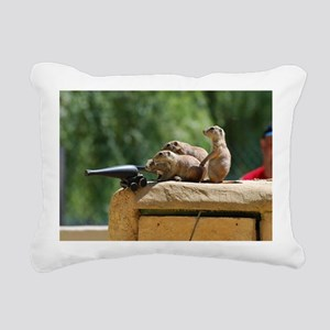 Prairie Dog Soldiers Rectangular Canvas Pillow