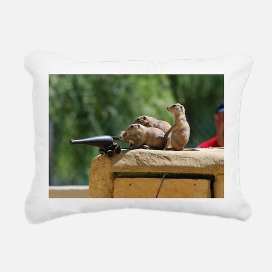 Prairie Dog Soldiers Rectangular Canvas Pillow