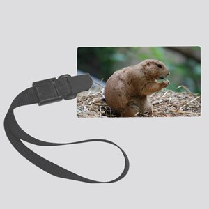 Prairie Dog Dukes Up! Large Luggage Tag