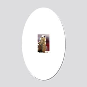 Adorable Prairie Dog 20x12 Oval Wall Decal