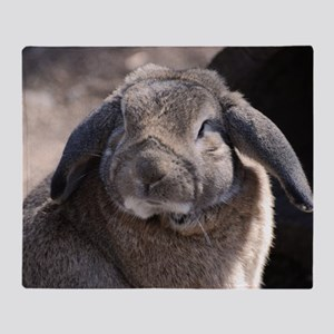 Lop Eared Rabbit Throw Blanket