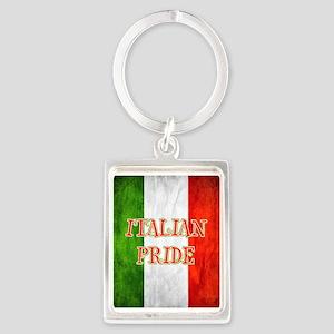Italian Pride Portrait Keychain