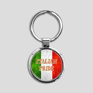 Italian Pride Round Keychain