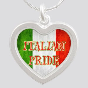 Italian Pride Silver Heart Necklace