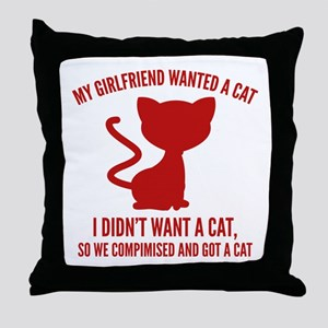 We Compromised And Got A Cat Throw Pillow
