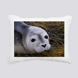 Cute Seal Pup Rectangular Canvas Pillow