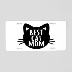 Best Cat Mom Aluminum License Plate