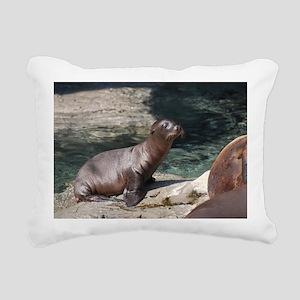 Sea Lion Pup Rectangular Canvas Pillow