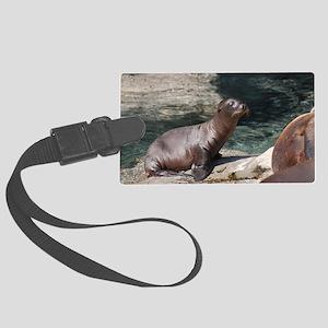 Sea Lion Pup Large Luggage Tag