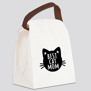 Best Cat Mom Canvas Lunch Bag