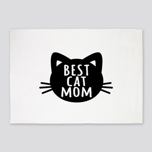 Best Cat Mom 5'x7'Area Rug