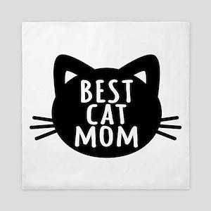 Best Cat Mom Queen Duvet