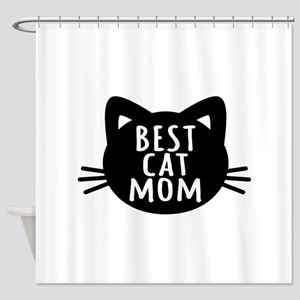 Best Cat Mom Shower Curtain