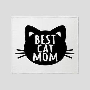 Best Cat Mom Throw Blanket