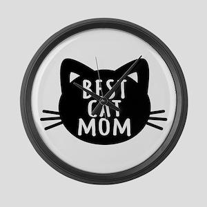 Best Cat Mom Large Wall Clock