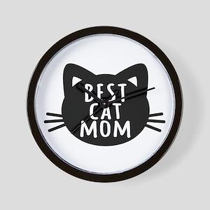 Best Cat Mom Wall Clock