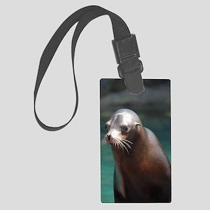 Adorable Sea Lion Large Luggage Tag