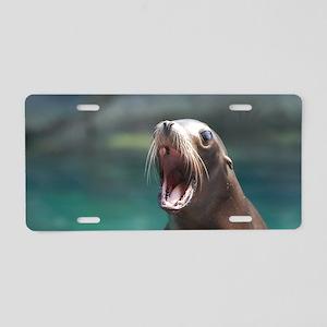 Sea Lion Chatting Aluminum License Plate