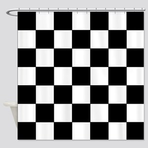 Checkered Pattern Shower Curtain