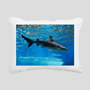 Black Tipped Shark Rectangular Canvas Pillow
