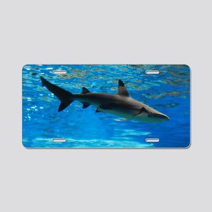 Black Tipped Shark Aluminum License Plate