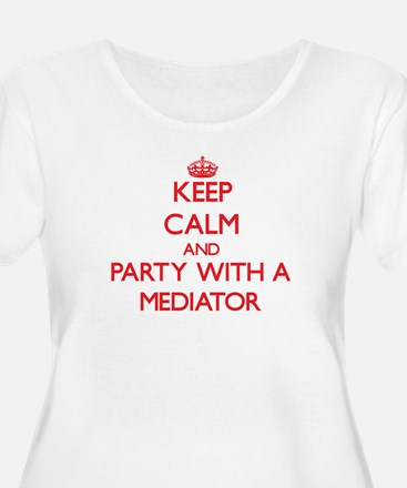 Keep Calm and Party With a Mediator Plus Size T-Sh