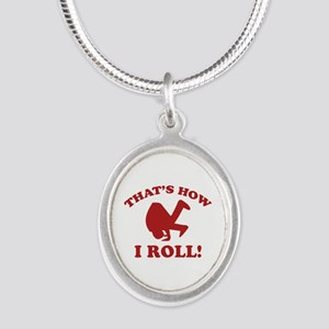 That's How I Roll! Silver Oval Necklace