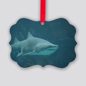 Great White Shark Picture Ornament