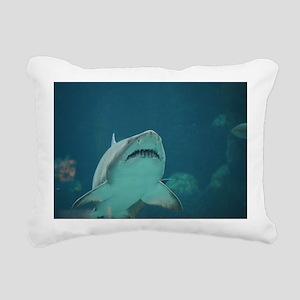 Shark Predator Rectangular Canvas Pillow