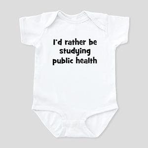 Study public health Infant Bodysuit