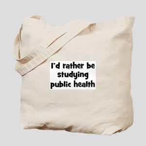 Study public health Tote Bag