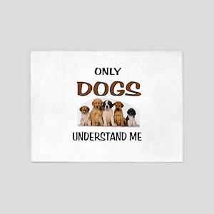 DOGS 5'x7'Area Rug